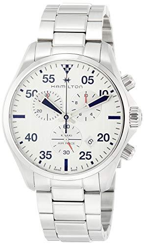 ハミルトン 腕時計 メンズ 【送料無料】Hamilton Khaki Pilot Chronograph Silver Dial Men's Watch H76712151ハミルトン 腕時計 メンズ