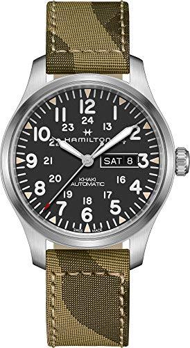腕時計 ハミルトン メンズ 【送料無料】Hamilton Khaki Field Automatic Black Dial Men's Watch H70535031腕時計 ハミルトン メンズ
