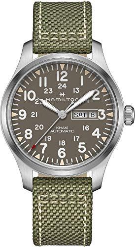 ハミルトン 腕時計 メンズ 【送料無料】Hamilton Men's Khaki Field Automatic Watch with Green Canvas Strap H70535081ハミルトン 腕時計 メンズ