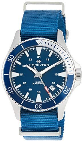 ハミルトン 腕時計 メンズ 【送料無料】Hamilton H82345941 Khaki Navy Scuba Auto Men's Watch Blue NATO Nylon Bandハミルトン 腕時計 メンズ