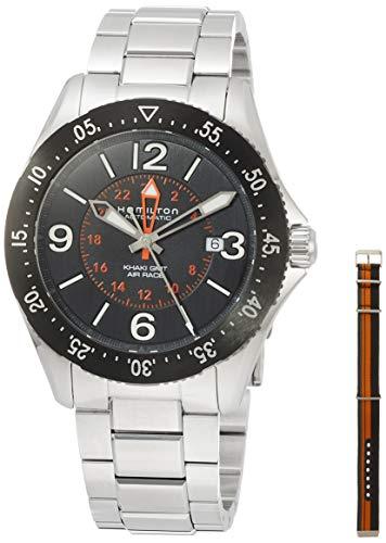 腕時計 ハミルトン メンズ 【送料無料】Hamilton Khaki Aviation Pilot GMT Black Dial Automatic Men's Watch H76755131腕時計 ハミルトン メンズ