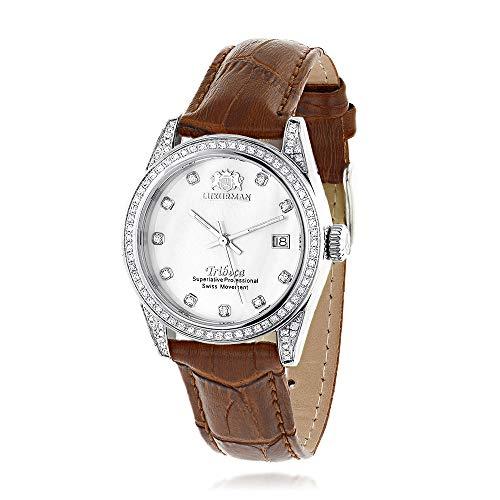 ラックスマン 腕時計 レディース Swiss Quartz Watches Womens Diamond Watch Tribeca with Leather Band by Luxurmanラックスマン 腕時計 レディース