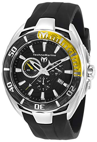 テクノマリーン 腕時計 メンズ 【送料無料】Technomarine Men's Cruise California II Stainless Steel Quartz Watch with Silicone Strap, Black, 25 (Model: TM-118039)テクノマリーン 腕時計 メンズ