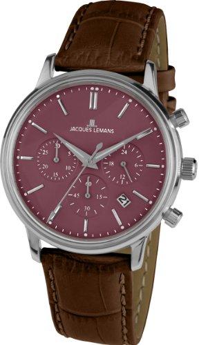 ジャックルマン オーストリア 腕時計 レディース ケビンコスナー愛用 【送料無料】Jacques Lemans Men's Analogue Quartz Watch with Leather Strap 1-209Eジャックルマン オーストリア 腕時計 レディース ケビンコスナー愛用
