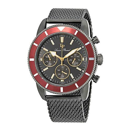 ルシアンピカール 腕時計 メンズ 【送料無料】Lucien Piccard Douglas Quartz Grey Dial Men's Watch LP-28019MF-140-REDルシアンピカール 腕時計 メンズ