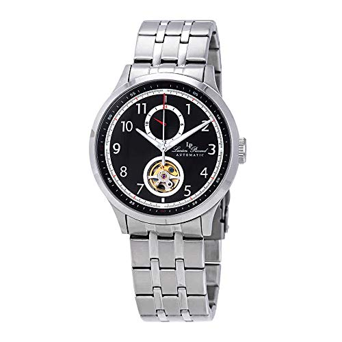 ルシアンピカール 腕時計 メンズ Lucien Piccard Open Heart GMT II Automatic Black Dial Men's Watch LP-28010A-11ルシアンピカール 腕時計 メンズ