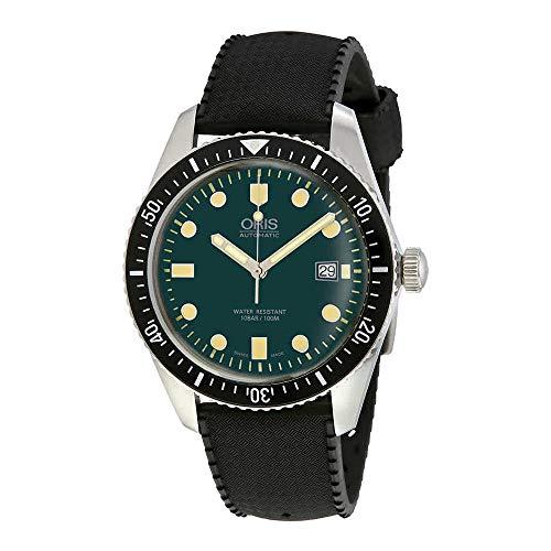 オリス 腕時計 メンズ 【送料無料】Oris Divers Green Dial Automatic Mens Rubber Watch 01 733 7720 4057-07 4 21 18オリス 腕時計 メンズ
