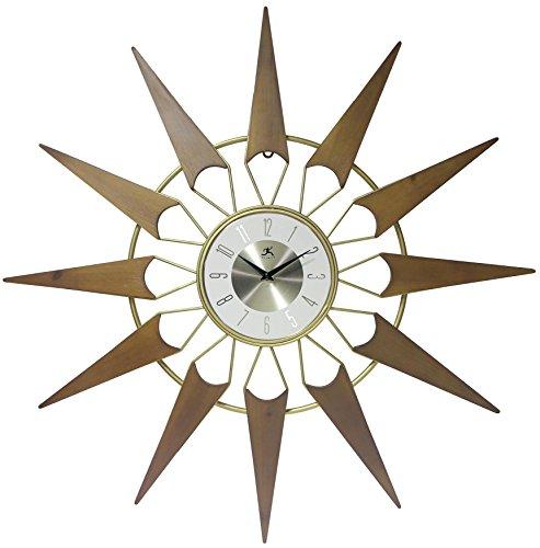 壁掛け時計 インテリア インテリア 海外モデル アメリカ 【送料無料】Infinity Instruments Nova Mid-Century Modern Gold/Wood 30.5 inch Large Wall Clock | Wood & Metal Mid Century Modern Look | Vin壁掛け時計 インテリア インテリア 海外モデル アメリカ