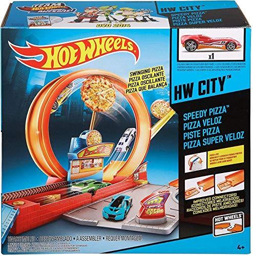 ホットウィール マテル ミニカー ホットウイール 【送料無料】Hot Wheels Mattel Speedy Pizza Set, Multicolorホットウィール マテル ミニカー ホットウイール