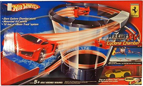 ホットウィール マテル ミニカー ホットウイール 【送料無料】Hot Wheels Ferrari Cyclone Chamber X-V Motorized Track Play Set with Yellow Ferrari Carホットウィール マテル ミニカー ホットウイール