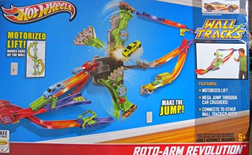 ホットウィール マテル ミニカー ホットウイール 【送料無料】Hot Wheels Wall Tracks ROTO ARM Revolution Track Race Set w 'Motorized' Lift & Vehicle Included (2013)ホットウィール マテル ミニカー ホットウイール