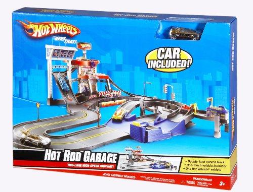 ホットウィール マテル ミニカー ホットウイール 【送料無料】Hot Wheels Deluxe City Hot Rod Garage Playsetホットウィール マテル ミニカー ホットウイール