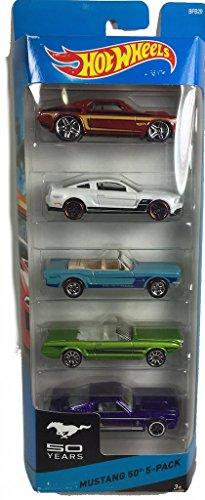 ホットウィール マテル ミニカー ホットウイール 【送料無料】Hot wheels Mustang 50th 5-packホットウィール マテル ミニカー ホットウイール