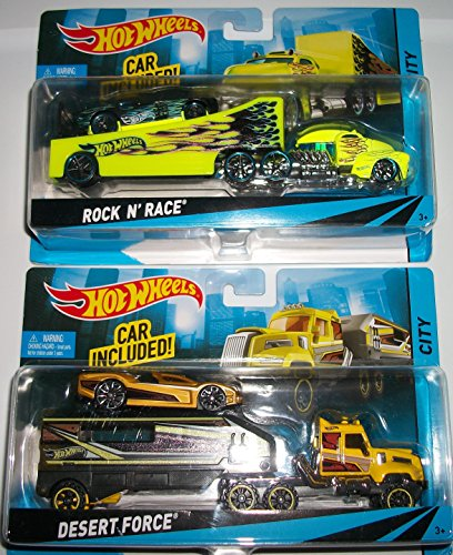 ホットウィール マテル ミニカー ホットウイール 【送料無料】(2) Hot Wheelsruck and Trailers with Car INcluded/Desert Force/ Rock N Raceホットウィール マテル ミニカー ホットウイール