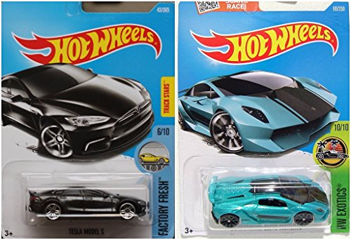 ホットウィール マテル ミニカー ホットウイール 【送料無料】Hot Wheels Lamborghini Sesto Elemento and Tesla Model S Bundleホットウィール マテル ミニカー ホットウイール