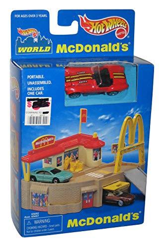 ホットウィール マテル ミニカー ホットウイール 【送料無料】Hot Wheels McDonald's Portable Playset w/ turquoise Corvette SP3 1998ホットウィール マテル ミニカー ホットウイール