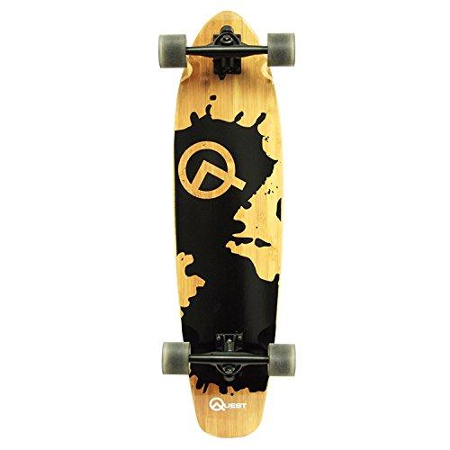ロングスケートボード スケボー 海外モデル 直輸入 QT-NRS34C Quest Rorshack Bamboo Longboard Skateboard (34-Inch)ロングスケートボード スケボー 海外モデル 直輸入 QT-NRS34C
