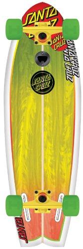 ロングスケートボード スケボー 海外モデル 直輸入 11111855 Santa Cruz Skate Land Shark Rasta Sk8 Complete Skate Boards, 8.8 x 27.7-Inchロングスケートボード スケボー 海外モデル 直輸入 11111855