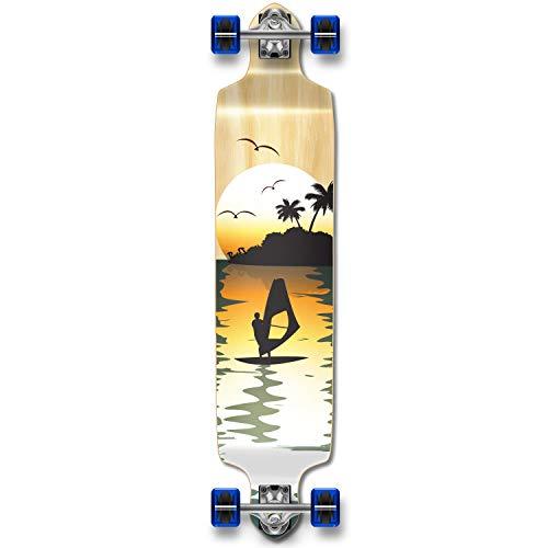 ロングスケートボード スケボー 海外モデル 直輸入 Dropdown-NSurfer YOCAHER Professional Speed Drop Down Complete Longboard Skateboard (Natural Surfer)ロングスケートボード スケボー 海外モデル 直輸入 Dropdown-NSurfer