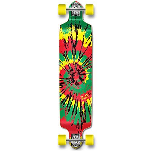 ロングスケートボード スケボー 海外モデル 直輸入 Dropdown-TiedyeR YOCAHER Professional Speed Drop Down Complete Longboard Skateboard (Tiedye Rasta)ロングスケートボード スケボー 海外モデル 直輸入 Dropdown-TiedyeR