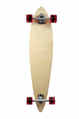 ロングスケートボード スケボー 海外モデル 直輸入 101019033006 SCSK8 Natural Blank & Stained Complete Longboard Pintail Skateboard (Natural, 44