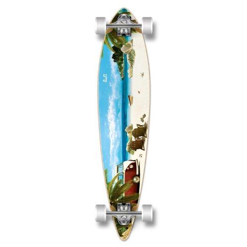 ロングスケートボード スケボー 海外モデル 直輸入 Yocaher Special Graphic Complete Longboard PINTAIL skateboard w/ 70mm wheels, Beach Getawayロングスケートボード スケボー 海外モデル 直輸入
