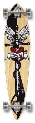 ロングスケートボード スケボー 海外モデル 直輸入 Yocaher Special Graphic Complete Longboard Pintail Skateboard w/ 70mm Wheels, Smiteロングスケートボード スケボー 海外モデル 直輸入