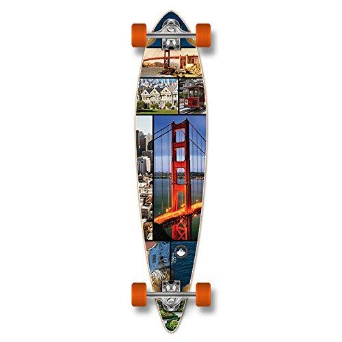 ロングスケートボード スケボー 海外モデル 直輸入 Yocaher Special Graphic Complete Longboard PINTAIL skateboard w/ 7mm wheels - San Franciscoロングスケートボード スケボー 海外モデル 直輸入