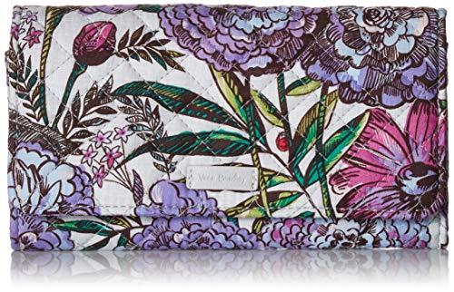 ヴェラブラッドリー ベラブラッドリー アメリカ 日本未発売 財布 【送料無料】Vera Bradley Women's Signature Cotton RFID Audrey Wallet, Lavender Meadow, One Sizeヴェラブラッドリー ベラブラッドリー アメリカ 日本未発売 財布