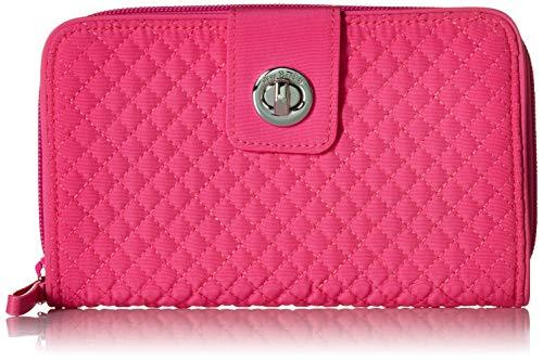 ヴェラブラッドリー ベラブラッドリー アメリカ 日本未発売 財布 Vera Bradley Iconic RFID Turnlock Wallet, Microfiber, Rose Petalヴェラブラッドリー ベラブラッドリー アメリカ 日本未発売 財布