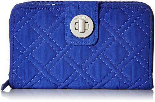 ヴェラブラッドリー ベラブラッドリー アメリカ 日本未発売 財布 【送料無料】Vera Bradley Women's Microfiber RFID Turnlock Wallet, Gage Blue, One Sizeヴェラブラッドリー ベラブラッドリー アメリカ 日本未発売 財布