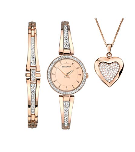 セコンダ イギリス 腕時計 レディース Sekonda Secret Rose Christmas Set Ladies Watch and Bracelet and Heart Locket Gift Set 2533Gセコンダ イギリス 腕時計 レディース