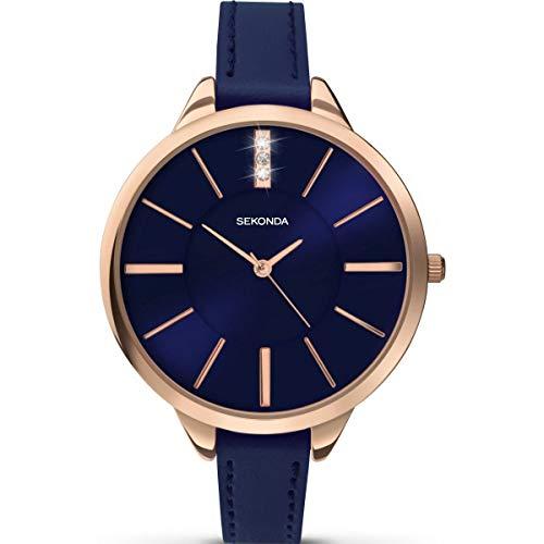 セコンダ イギリス 腕時計 レディース Sekonda Editions Rose Gold Dial Navy Strap Ladies Watch 2248セコンダ イギリス 腕時計 レディース