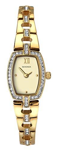 腕時計 セコンダ イギリス レディース 【送料無料】Sekonda Women's Classic Quartz Watch with Gold Dial and Bracelet 2241腕時計 セコンダ イギリス レディース