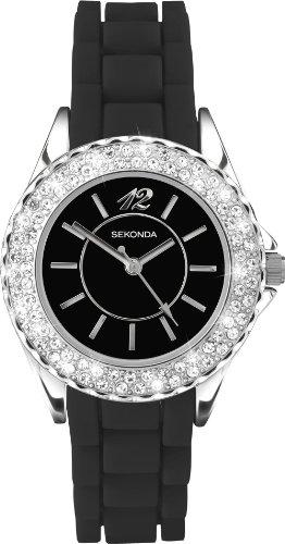 腕時計 セコンダ イギリス レディース 【送料無料】Sekonda Black Party Time Ladies Watch腕時計 セコンダ イギリス レディース:angelica