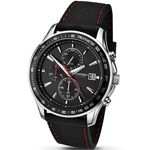 セコンダ イギリス 腕時計 メンズ SEKONDA Unisex-Adult Quartz Watch, Chronograph Display and Rubber Strap 1005.27セコンダ イギリス 腕時計 メンズ