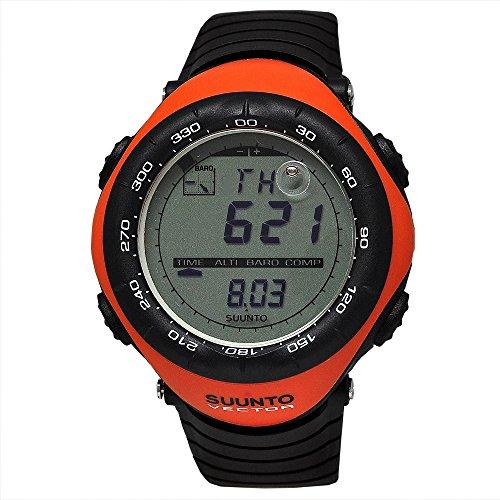 腕時計 スント アウトドア メンズ アウトドアウォッチ特集 【送料無料】Suunto Men's Digital Vector-Orange Multi-Function Black Silicone腕時計 スント アウトドア メンズ アウトドアウォッチ特集