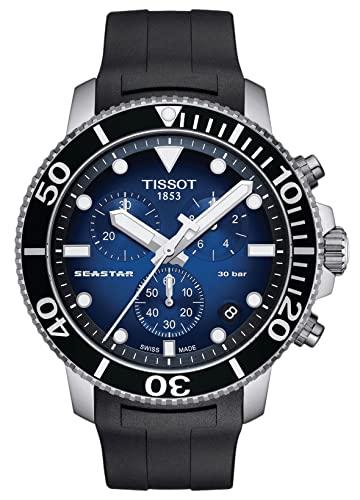 腕時計 ティソ メンズ 【送料無料】Tissot Men's Seastar 660/1000 Stainless Steel Swiss Quartz Rubber Strap, Black, 22 Casual Watch (Model: T1204171704100)腕時計 ティソ メンズ
