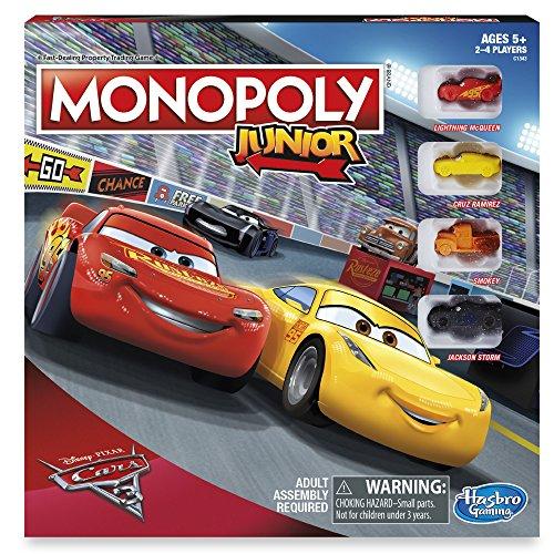 ボードゲーム 英語 アメリカ 海外ゲーム Cars 3 Monopoly Junior Board Gameボードゲーム 英語 アメリカ 海外ゲーム