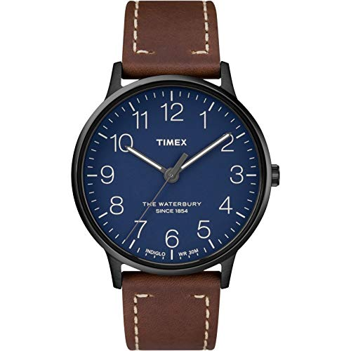 タイメックス 腕時計 メンズ 【送料無料】Timex Waterbury Classic 40mm Leather Strap Watch TW2R25700タイメックス 腕時計 メンズ
