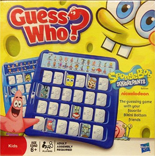 ボードゲーム 英語 アメリカ 海外ゲーム Hasbro Sponge Bob Guess Who?ボードゲーム 英語 アメリカ 海外ゲーム