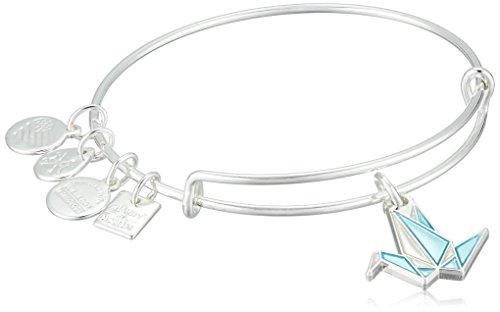 アレックスアンドアニ アメリカ アクセサリー ブランド かわいい 【送料無料】Alex and Ani Paper Crane EWB Shiny Silver Bangle Braceletアレックスアンドアニ アメリカ アクセサリー ブランド かわいい