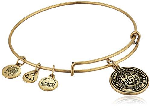 アレックスアンドアニ アメリカ アクセサリー ブランド かわいい 【送料無料】Alex and Ani James Madison University Logo Expandable Rafaelian Gold Bangle Braceletアレックスアンドアニ アメリカ アクセサリー ブランド かわいい