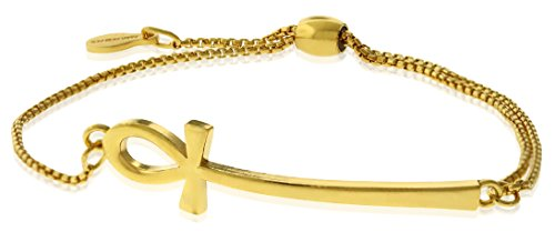 アレックスアンドアニ アメリカ アクセサリー ブランド かわいい Alex and Ani Women's Ankh Pull Chain Bracelet, 14kt Gold Platedアレックスアンドアニ アメリカ アクセサリー ブランド かわいい