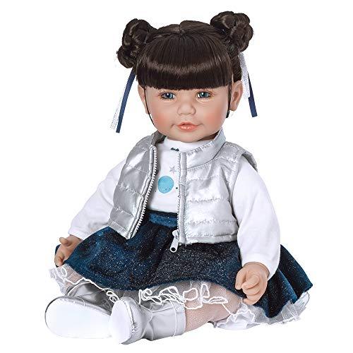 アドラベビードール 赤ちゃん リアル 本物そっくり おままごと Adora ToddlerTime Doll Cosmic Girl 20 inch Toddler Baby Doll in CuddleMe Vinyl, Realistic Lifelike Weighted Cloth Body, Dark Brown Hアドラベビードール 赤ちゃん リアル 本物そっくり おままごと