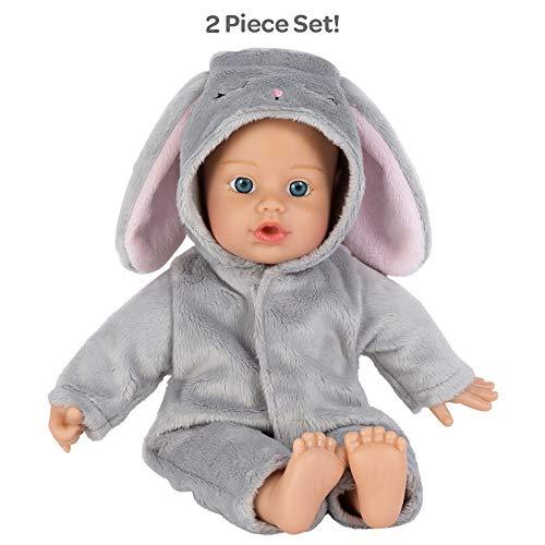 アドラベビードール 赤ちゃん リアル 本物そっくり おままごと Adora Soft Baby Doll Funsie Onesie Baby Bunny 11 inch Mini Vinyl Doll, Cuddly Weighted Body, Blue Eyesアドラベビードール 赤ちゃん リアル 本物そっくり おままごと