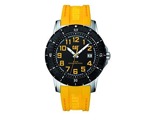 キャタピラー タフネス 腕時計 メンズ 頑丈 【送料無料】CAT PV1 Date Men's Analog Watch Black and Yellow PV14127117キャタピラー タフネス 腕時計 メンズ 頑丈