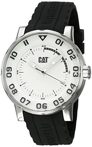 キャタピラー タフネス 腕時計 メンズ 頑丈 CAT Watches Men's Bold II Stainless Steel Analog-Quartz Watch with Silicone Strap, Black, 21.04 (Model: NM.141.21.212)キャタピラー タフネス 腕時計 メンズ 頑丈
