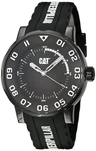 キャタピラー タフネス 腕時計 メンズ 頑丈 CAT Watches Men's Bold II Stainless Steel Analog-Quartz Watch with Silicone Strap, Black, 21.04 (Model: NM.161.22.112)キャタピラー タフネス 腕時計 メンズ 頑丈
