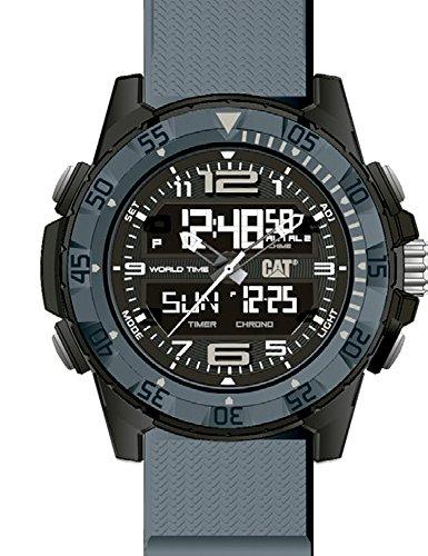 キャタピラー タフネス 腕時計 メンズ 頑丈 CAT Basecamp Grey Men Watch, 47 mm case, Abs case, Grey silicone strap, Black/Grey dial (MC.155.25.135)キャタピラー タフネス 腕時計 メンズ 頑丈